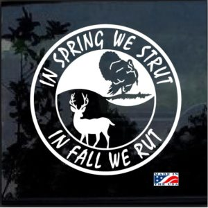 spring rut fall strut window decal sticker