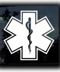 Star Of Life Caduceus Decal Sticker - https://customstickershop.us/product-category/career-occupation-decals/