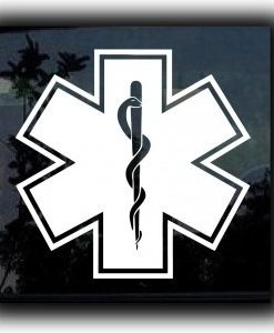 Star Of Life Caduceus Decal Sticker - //customstickershop.us/product-category/career-occupation-decals/