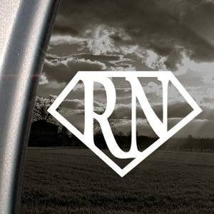 Super RN Nurse Decal Sticker - https://customstickershop.us/product-category/career-occupation-decals/