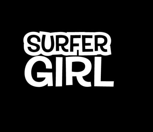Surfer Girl Window Decal Stickers - https://customstickershop.us/product-category/stickers-for-cars/