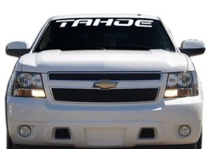 Chevy Tahoe Windshield Decals - http://customstickershop.us/product-category/windshield-decals/