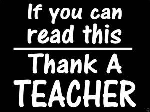 Thank A Teacher Decal Sticker - https://customstickershop.us/product-category/career-occupation-decals/