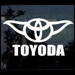 Toyota Toyoda Funny Window Decal Sticker