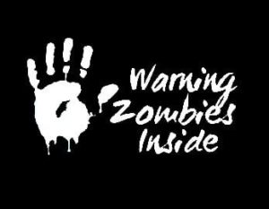 Warning Inside Zombie Stickers - https://customstickershop.us/product-category/zombie-stickers/