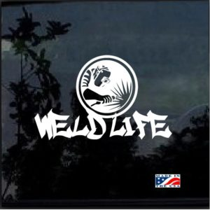 weld life welder decal sticker