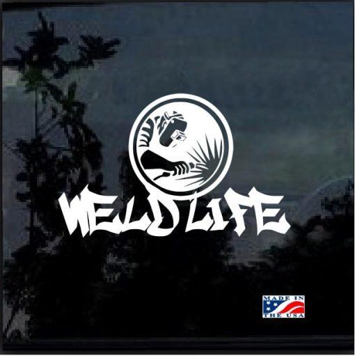 weld life welder decal sticker