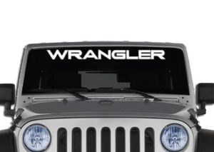 Wrangler Jeep Windshield Decals - https://customstickershop.us/product-category/windshield-decals/