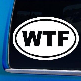 WTF Funny Window Decal Stickers - WTF Funny Window Decal Stickers