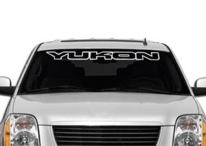 GMC Yukon II Windshield Decals - https://customstickershop.us/product-category/windshield-decals/