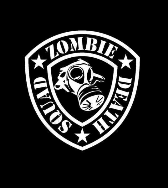 Death Squad Zombie Stickers – Custom Sticker Shop llc