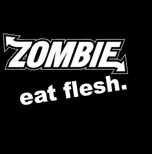Eat flesh parody zombie stickers http customstickershop us product