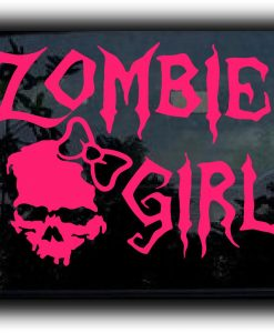 Zombie Girl Zombie Stickers - https://customstickershop.us/product-category/zombie-stickers/