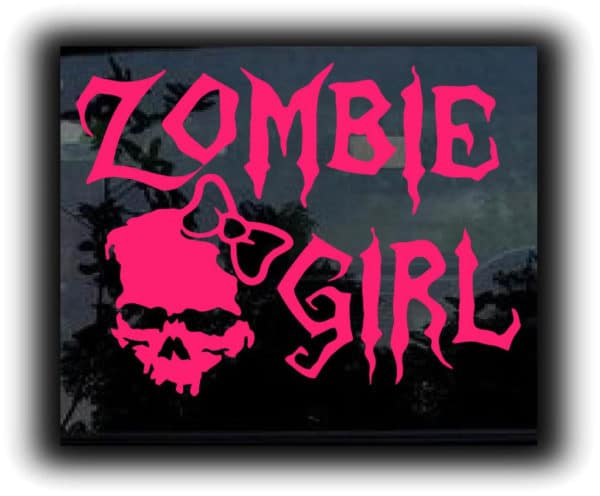 Zombie Girl Zombie Stickers – Custom Sticker Shop llc