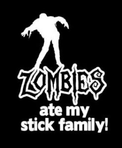 Ate My Stick Family Zombie Stickers - //customstickershop.us/product-category/zombie-stickers/