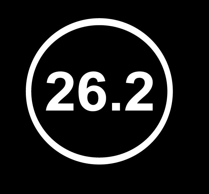 26.2 Round marathon Decal Sticker