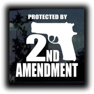 Protected 2nd amendment decal