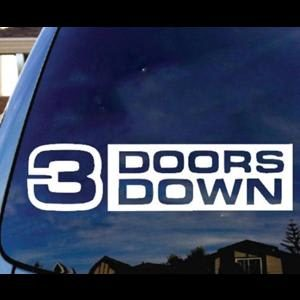 3 doors Down Band Window Decal