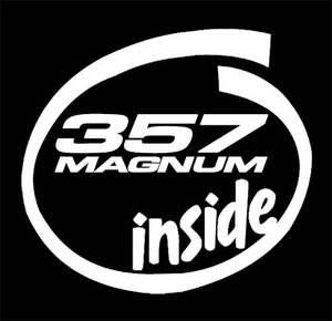 357 magnum inside funny decal