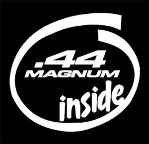 44 magnum inside funny sticker