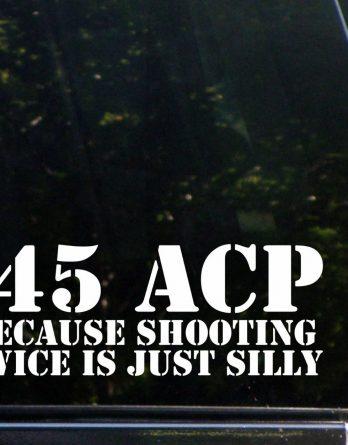 45 acp beacause shooting twice is silly