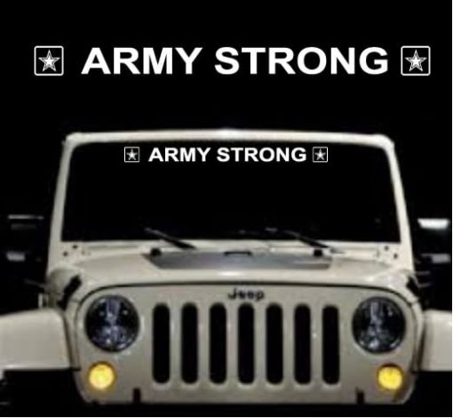 Army Strong Windshield Banner Decal Sticker