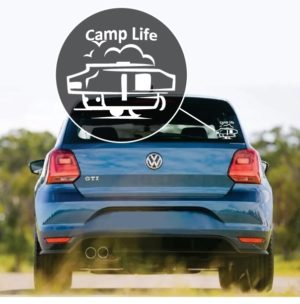 Camp life window decal sticker