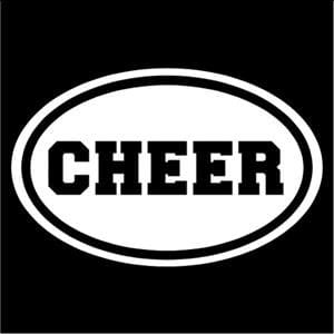 Cheer Oval Window Decal Stickers