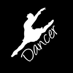 Dancer car window decal