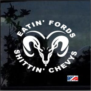Dodge Eating Fords and Shittin Chevy Decal Sticker