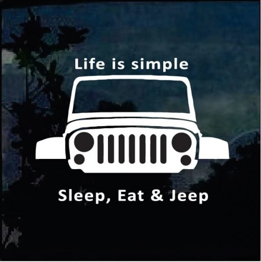 Eat Sleep Jeep Vinyl Decal Stickers