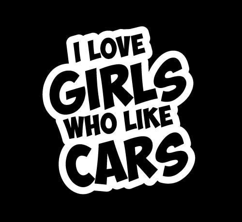 Love girls who like cars JDM Stickers - https://customstickershop.us/product-category/jdm-stickers/