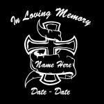 In loving memory decal cross banner