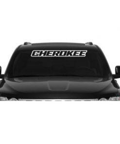 Jeep Cherokee Windshield Banner Decal Sticker
