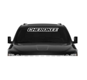 Jeep Cherokee Windshield Banner Decal Sticker