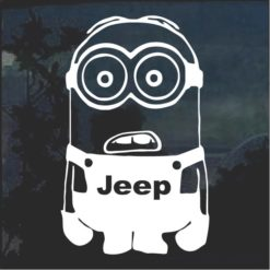 Jeep Minion Vinyl Window Decal Sticker