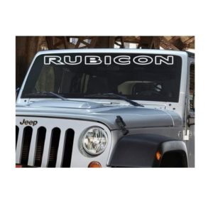 Jeep Rubicon Windshield Banner Decal Outlined