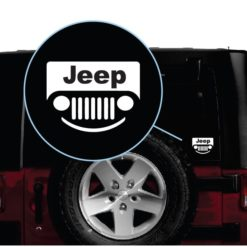 Jeep smile Grill Window Decal Sticker