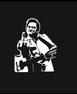 Johnny Cash Music Window Decal