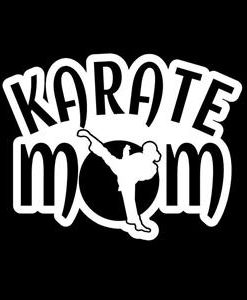 Karate Mom Window Decal