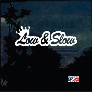 Low and Slow JDM Low Rider window decal sticker