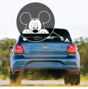 Mickey Mouse Peeking Car Window Decal Sticker