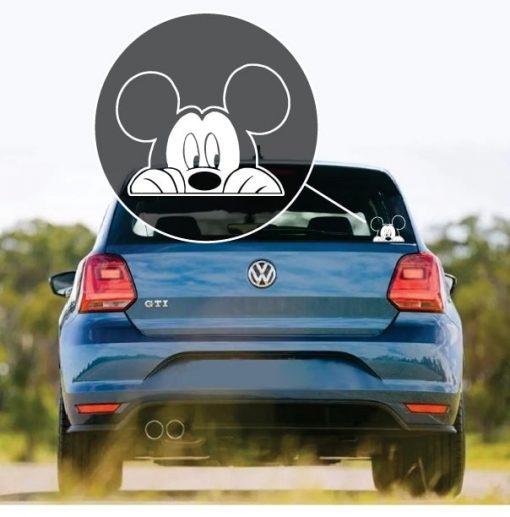 Mickey Mouse Peeking Car Window Decal Sticker