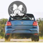 Minnie Mouse Peeking Window Decal Sticker