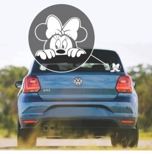Minnie Mouse Peeking window decal sticker
