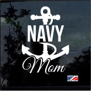 Navy Mom Anchor Window Decal Sticker