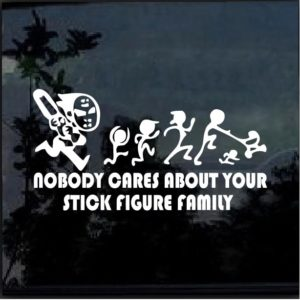 Nobody cares about your stick family jason vorhees decal sticker