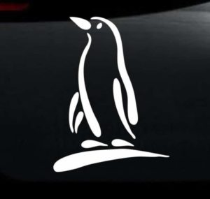 Penguin Car Decal Sticker