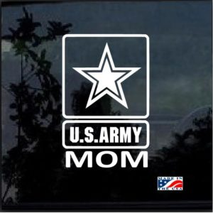 Proud army mom window decal sticker