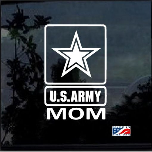 Proud army mom window decal sticker